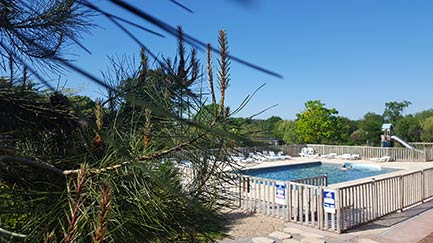 Water Park Swimming Pool at Kervallon Campsite