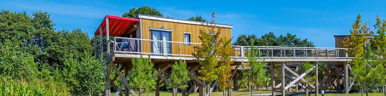 location cottage pilotis camping morbihan